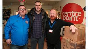 John O'Shea, with Centrepoint staff