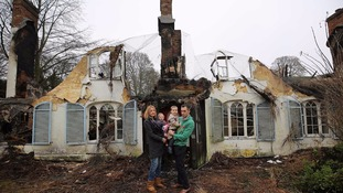 Family left homeless for Christmas as cottage burns to the ground days after moving in