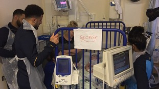 Spurs players visited several hospitals across Essex and North London.