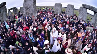 Druids and pagans were among the crowd that watched the sun come up.