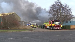 The fire service says it is making sure the effect on the environment is kept to a minimum.