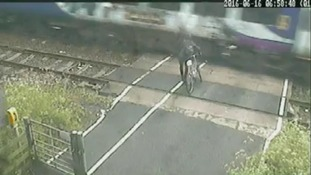 Warning after level crossing near-miss captured on CCTV