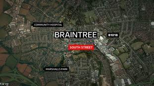 The fire broke out in Braintree last night.
