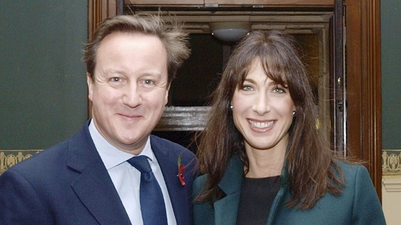 Prime Minister David Cameron and his wife Samantha at the Royal British Legion Festival of Remembrance at the Royal Albert Hall last night.