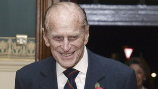 The Duke of Edinburgh pictured before the Royal British Legion Festival of Remembrance.
