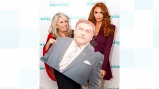 Charlotte Dawson and Mum Tracy bring cardboard cut-out of Les Dawson to This Morning