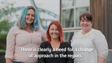 Lynsey Curry, Madeleine Hauxwell and Andrea Bartlett have set up a new service supported by the University of Sunderland.