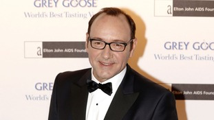 Actor Kevin Spacey arrives at the event, held at London's Battersea Power Station.