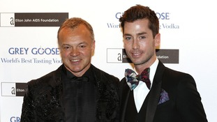 TV presenter Graham Norton (left) and partner Trevor Patterson.