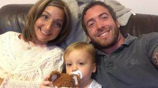 Nina and Ed Cusick with their son Teddy.