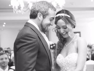 Ed and Nina Cusick on their wedding day.