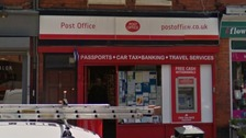 The post office in Heaton Moor where the robbery took place