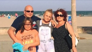 Alina and Emilia Kordaszewska pictured with members of their family.