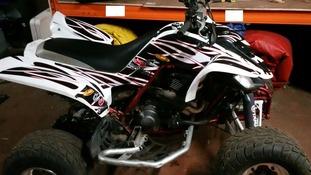 A quad bike seized in Garston