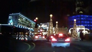 Dashcam footage captures moment Berlin lorry speeds into Christmas market