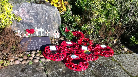 Tributes in Breaston, Derbyshire to fallen service personnel