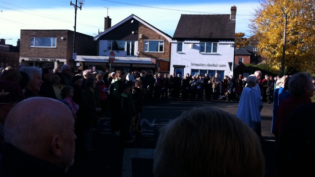 Breaston residents pay their respects