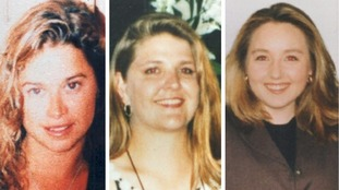 The remains of Ciara Glennon (left) and Jane Rimmer (centre) were found, while Sarah Spiers (right) remains missing