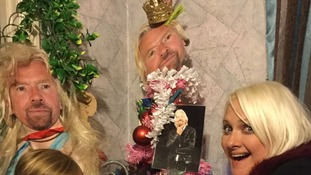 Superfan celebrates Christmas by decorating entire house with Richard Branson pictures