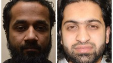 Syed Hoque (left) and Mashoud Miah (right) were convicted of funding terrotism