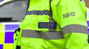 Police investigated the burglary