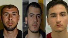 Three men were found guilty