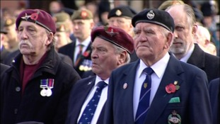 Proudly wearing poppies