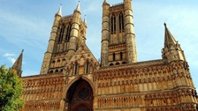 The famous facade of Lincoln Cathedral.