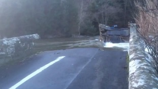 The Pooley Bridge was badly damaged in the flood.