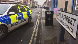 Some arrests were made in Leopold Street in Derby.