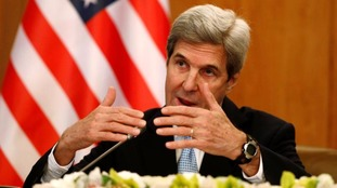 John Kerry addresses the media earlier this year.