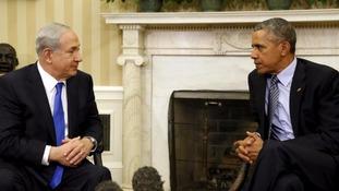 Benjamin Netanyahu met Barack Obama at the White House last year.