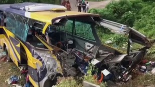 Bus plunges off cliff in Malaysia killing 14