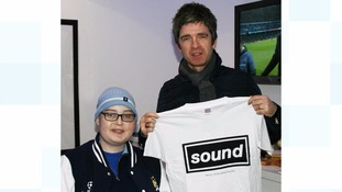 Callum Ballantine with Noel Gallagher