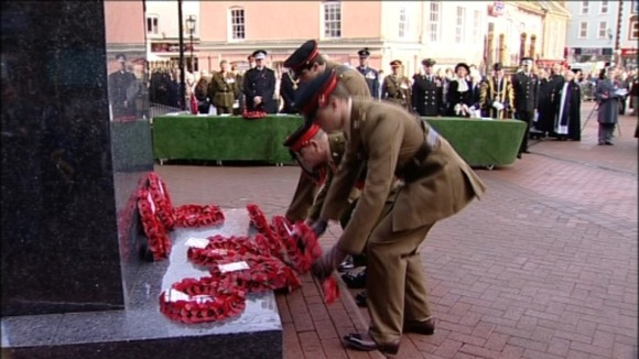 Laying wreathes in Carlisle