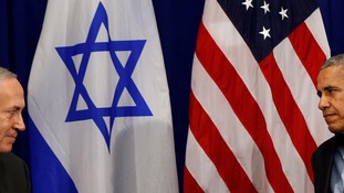 Benjamin Netanyahu has accused Barack Obama of plotting against Israel to pave the way for the UN resolution.