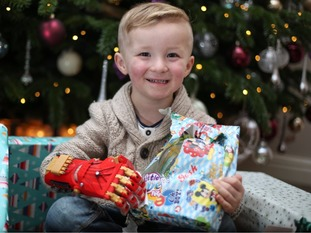 Brooklyn Brentnall-Croydon discovered the joy of opening his own Christmas presents this year.