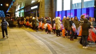 Hundreds turn up at 3am for sales to begin