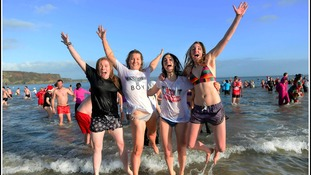 Record numbers for Tenby Boxing Day swim