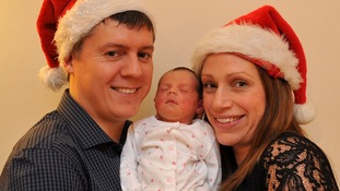 Mum gave birth on Christmas Day and four hours later was at home eating Christmas dinner
