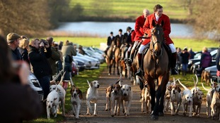 The Boxing Day Hunt at Raynham Hall in West Norfolk
