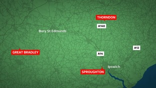 Three people have died in separate crashes in Suffolk.