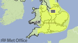 The Met Office has issued a yellow warning for fog.
