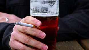 Drinking and smoking are damaging for health