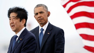 Japanese PM Shinzo Abe joins US president Barack Obama to honour dead at Pearl Harbour