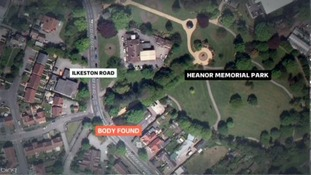 The body was found by the park entrance