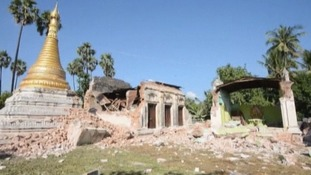 Ancient Buddhist buildings were damaged