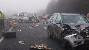 Around 20 vehicles crashed in Oxfordshire on the A40