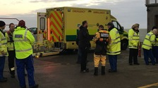 A man was rescued from the waters of Ballyholme Bay on Wednesday morning.