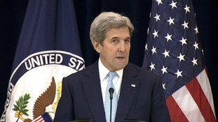 John Kerry said the two-state solution was the only option